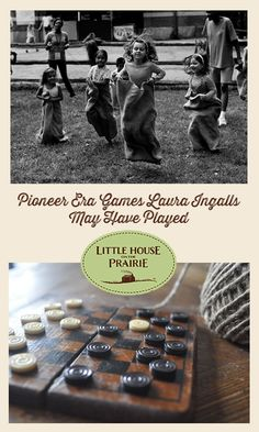 Have you ever wondered what games pioneer children played? Laura Ingalls Wilder describes many games and activities in her books, and research shows us a few other games that children played during this era. Pioneer Day Games, Pioneer Day Activities, Summer Activities, Activities For Kids, Primary Activities, Group Activities, Pioneer Trek, Pioneer Life, Kansas Day