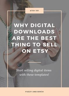Ever thought about selling digital downloads on Etsy? Learn why these items are little profit nuggets...and get templates you can use to make your own! Click to read more!