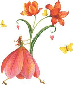 Fleur papillon robe coeur