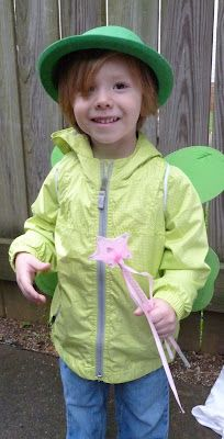 Fairy/elf costume for a boy - Scribner's Scribblers: Molly's Pink Fairy Birthday Party