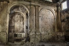 inside the abandoned church