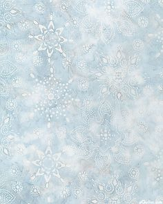 Northwoods 2 Snowflake Crystal Batik Powder Blue Bleu Pastel Love