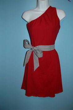 Handmade Gameday dress for #Bama fans $79. Cute houndstooth belt!