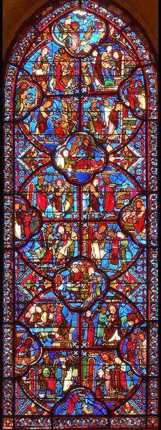 Bourges Ambulatory Glass - Bay 16 Key