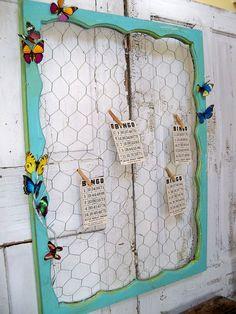 Large wooden window aqua cottage chicken wire by AnitaSperoDesign, $80.00