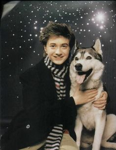 Two awesome things: Harry Potter (Daniel Radcliffe) and a Husky (I hope? Hermione Granger, Harry Potter Hermione, Harry Potter Characters, Harry Potter Fandom, Harry Potter World, Harry And Ginny, Harry James Potter, Drarry, Daniel Radcliffe Harry Potter