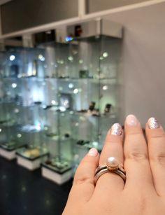 #pierścionek #srebro #złoto #perła #biżuteriaartystyczna #margotstudio