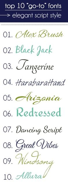 Most common elegant tattoo fonts