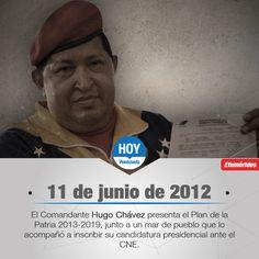 Un día como hoy, en 2012, el Comandante Hugo Chávez inscribió su candidatura a la Presidencia.