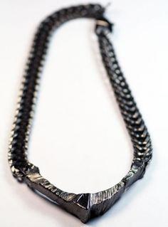 Shaw Necklace Gunmetal $395