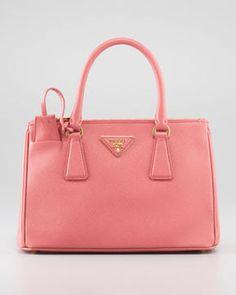 http://www.shopstyle.com: Prada Mini Saffiano Lux Tote Bag, Pink