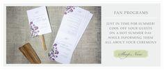 oh so cute fan programs for summer weddings!