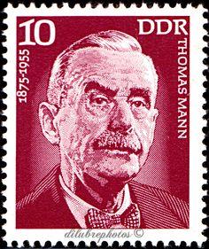 German Democratic Republic.  PORTRAITS OF FAMOUS MEN, BIRTH ANNIVERSARIES.  THOMAS MANN (1875-1955) writer.  Scott 1626 A497, Issued 1975 Mar 18, Litho, Perf. 13 1/2 x 13, 10. /ldb.