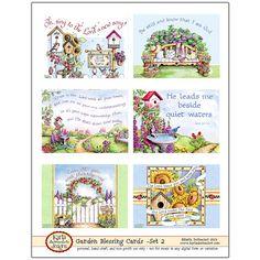 Garden Blessing Cards 02 INSTANT DOWNLOAD  von karladornacher