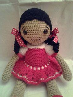 AMELIA Crochet Amigurumi Crochet niña muñeca por ToledosTalents