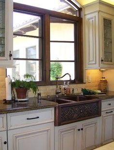 Copper Farmhouse Sink Design - traditional - kitchen - san diego - Design Moe Kitchen