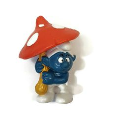 Smurfs 20119 Umbrella Smurf Grouchy Vintage Peyo Bully PVC Figure West Germany  #Bullyland Scottish Bagpipes, Vintage Toys, Bullying, Book Worms, Smurfs, Germany, Old Things, Ebay, Cool Stuff