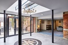 Kings Court Hotel, entrance, hall, skylight, decorative lighting, floor decoration, bright space, walkway, floor design