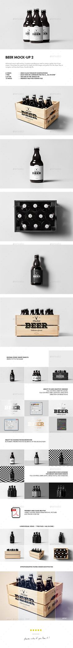 Beer Mock-up. Download here: http://graphicriver.net/item/beer-mockup-2/15390920?ref=ksioks