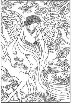 secret garden coloring pages completed operations   Click Children Are Protected by Guardian Angel Coloring ...