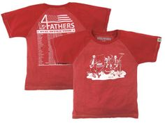Kids' educational shirt - 4 Fathers Concert Tee. So clever!