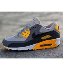 factory authentic edc4a 80fe9 Air Max 90 Essential Grey Orange Trainer Outlet