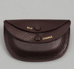 PORTER & CO ROUND WALLET, BROWN :: HICKOREE'S