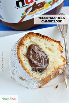 #Yogurt and #Nutella Ciambellone - a classic #Italian #cake perfect for your weekend breakfast!