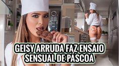 Geisy abusa da sexualidade e faz ensaio sensual se lambuzando no chocolate
