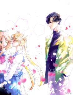 Sailor Moon Y Darien, Sailor Moon Girls, Sailor Moom, Sailor Moon Stars, Sailor Moon Fan Art, Sailor Moon Character, Sailor Moon Manga, Sailor Uranus, Sailor Moon Crystal