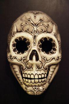 Sugar skull mask wall art
