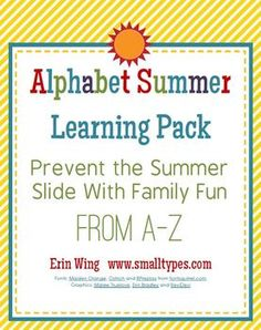 Free today only. (5/6/12) Enjoy! Happy Teacher Appreciation Week! Prevent the Summer Slide With Family Fun From A-ZTeachers know how import...
