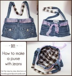 #DIY - How to make a purse with jeans tutorial