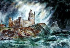 Lindisfarne Priory and Castle Colin Cartwright Huge Waves, 2d Art, Cathedrals, Castles, Paths, Surfing, Island, Awesome, Nature