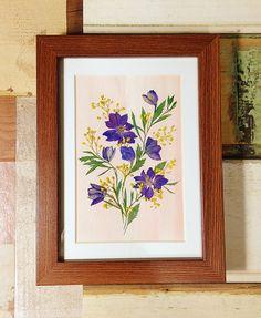 Pressed flower Facebook.com/ispresentpresent