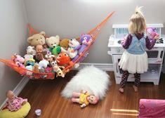 MiniOwls Toy Storage Hammock - Plush Animal Organizer for Bedroom Wall, Gift Idea for Baby Girl/Boy Birthday or Shower (White, Large) Toy Hammock, Dinner Party Decorations, Organization Skills, Plush Animals, Toy Storage, Bedroom Wall, Teaching Kids, Boy Birthday, Playroom