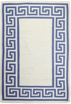 Hampton Dhurrie Grecian Key Area  2.6'x8' by Houzz  $79.50 ($300.00)