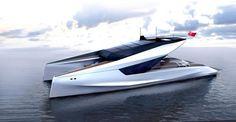 Toutes premières images du motor-yacht catamaran signé JFA Yachts & Peugeot Design Lab
