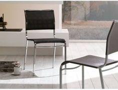 Zen sedia in texplast - Sedia con struttura in metallo verniciato alluminio, bianco o cromato con seduta e schienale in texplast disponibile nei colori grigio e nero.  Confezione scatola N° 2 pz.   Prezzo inteso per singolo pezzo.  Dimensioni: L 44,5 x P 52 H 86 cm  Prodotto da azienda Italiana   realizzato all'estero.