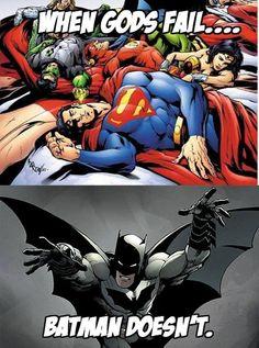 Because he's Batman!!