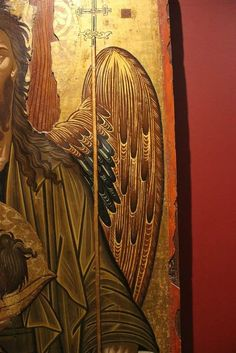 Byzantine Icons, Byzantine Art, Paint Icon, Angel Images, John The Baptist, Religious Icons, Orthodox Icons, Fresco, Style Icons