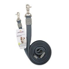 PETMATE DELUXE SIGNATURE PEWTER METAL CLIP 6FT X 5/8 LEASH - BD Luxe Dogs & Supplies