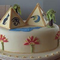 Egyptian Themed Cake cakepins.com