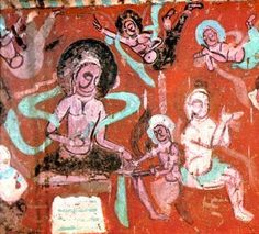 Mogao Caves  The group of caves at Mogao represents a unique artistic achievement as much by the organization of space into cells and temples built on five levels as by the production of more than 2000 sculptures carved out of the rock walls, then covered with clay and painted, and the approximately 45,000 m2 of murals, among which are many masterpieces of Chinese art.