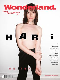 Hari Nef in one of the Wonderland february 2016 The fame issue alternative coversby Terry Richardson