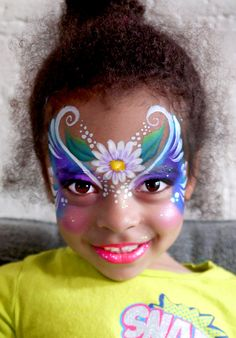"""Fairy Princess face painting by Lenore Koppelman aka """"The Cheeky Chipmunk"""" in NYC"""