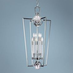 "Lamps Plus Hudson Valley Waterloo 8-Light Polished Nickel Chandelier 1916 21"" wide x 41 high"