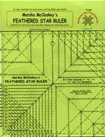 Half Square Triangle (HST)  aka Feathered Star Ruler by Marsha McCloskey.