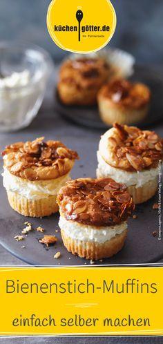 Wir verraten dir ein tolles Rezept für leckere Bienenstich-Muffins. Da kann keiner widerstehen.
