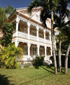 Florida Memory - Victorian style conch house on Elizabeth Street, Key West, Florida.